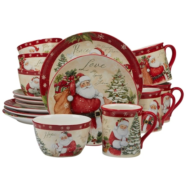 Certified International Holiday Wishes 16-piece Dinnerware Set, Service for 4