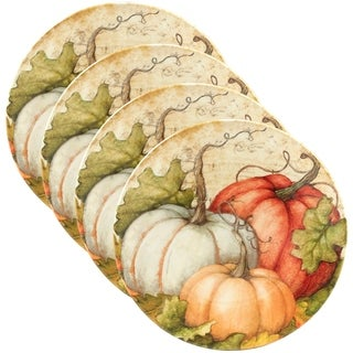 Certified International Autumn Fields 9-inch Salad Plate, Set of 4