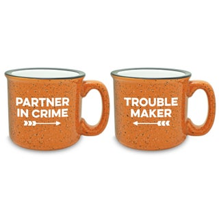 Partner In Crime Camp Mug (Set of 2) - N/A (Option: Orange)