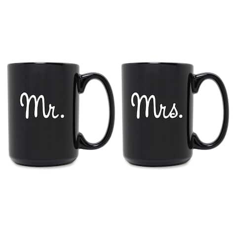 Mr. & Mrs. Grande Black Mug (Set of 2)