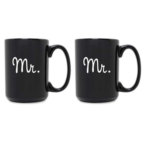 Mr. & Mr. Grande Black Mug (Set of 2)