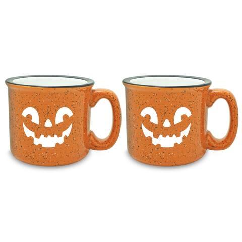 Jack-O-Lantern Camp Orange Mug (Set of 2)