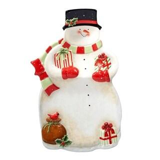 Certified International Starry Night Snowman 3-D Snowman Chip & Dip
