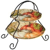 Certified International Autumn Fields 2-Tier Server (7-inch and 9-inch plate)