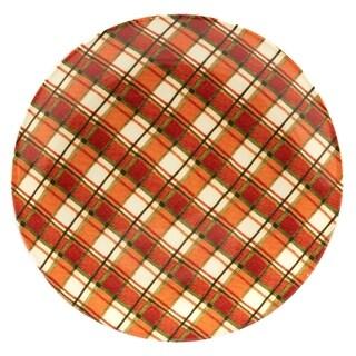Certified International Autumn Fields Plaid 13-inch Round Platter