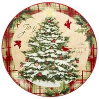 Certified International Holiday Wishes 13-inch Round Platter