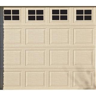 Decorative Magnetic Single Door Garage Windows, Black, 16 pc Set