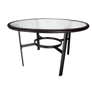 """Newport 48"""" Glass-Top Dining Table"""