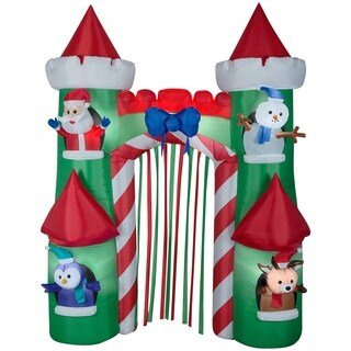 "108"" Inflatable Holiday Castle Gate - 107.87"