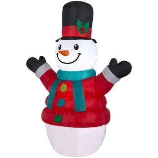 "84"" Inflatable Puffy Parka Snowman - 83.86"