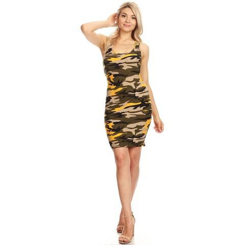 Women's Casual Racerback Tank Bodycon Dress