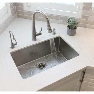 """28"""" Undermount Single Bowl Kitchen Sink 18G Stainless Steel S-306 - 28'' x 18'' x 10''"""