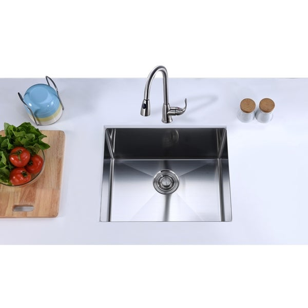 Stylish 22 Inch Undermount Single Bowl Laundry Sink 18 Gauge Stainless Steel S