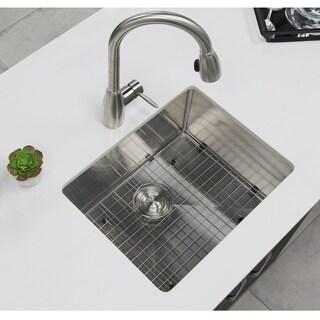 Stylish 23 inch Undermount Single Bowl 18 Gauge Stainless Steel Kitchen Sink, S-307G