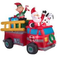 """68"""" Inflatable Holiday Fire Truck - 68.5"""