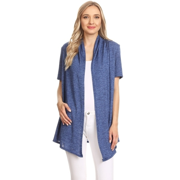Women's Casual Style Solid Loose Fit Cardigan. Opens flyout.