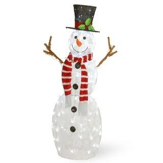 """48"""" Pre-Lit Snowman Decoration - 48"""