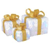 Pre-Lit White Gift Box Assortment - 8