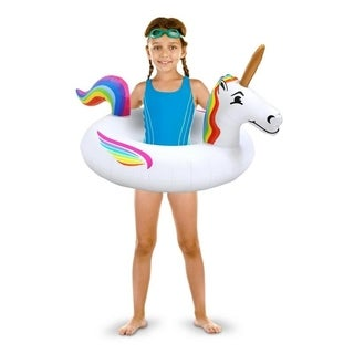 GoFloats Unicorn Jr Pool Float Party Tube, Stylish Floating for Kids