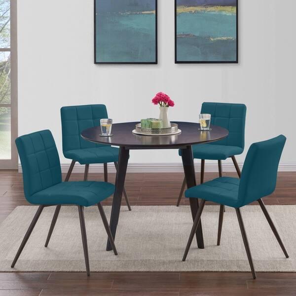 quality design c35d7 6f484 Shop Handy Living Manzanola Blue Faux Leather Armless ...