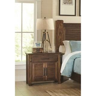 Sutter Creek Vintage Bourbon 1-drawer Nightstand with 2-door