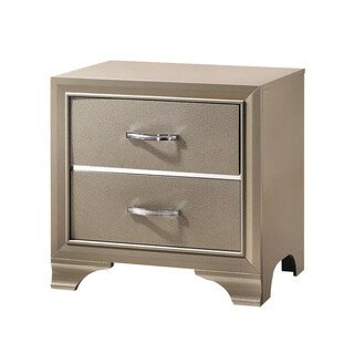 Silver Orchid Arcaro Transitional Champagne Nightstand
