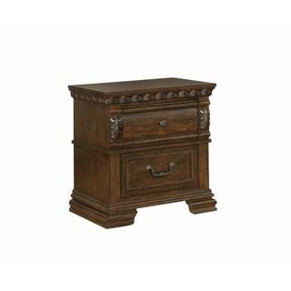 Satterfield Traditional Warm Bourbon 2-drawer Nightstand
