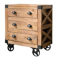 Carbon Loft Hawn Rustic 3-drawer Accent Cabinet