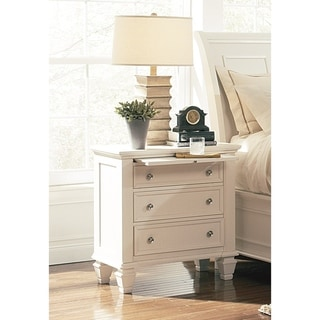 Sandy Beach 3-drawer Nightstand with Tray