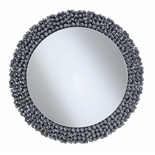 "Contemporary Silver Wall Mirror - 31.50"" x 0.75"" x 31.50"""