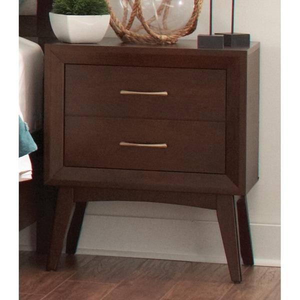 Shop Carrington Mid-century Modern 2-drawer Nightstand ...