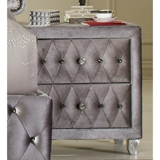 Silver Orchid Niedermann Metallic Nightstand