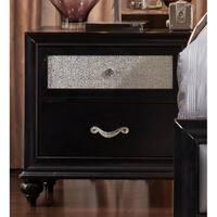 Barzini 2-drawer Nightstand with Metallic Drawer Front