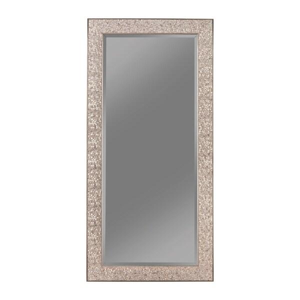 "Shop Transitional Mosaic Rectangular Mirror - 32"" x 0.50"
