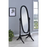 Transitional Cheval Oval Mirror