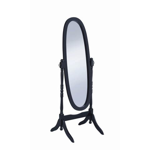 """Transitional Cheval Oval Mirror - 23"""" x 19.50"""" x 59"""""""