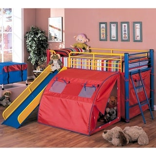 Multi-color Themed Red, Blue and Yellow Loft Bed