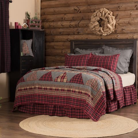 VHC Chili Pepper Red Rustic & Lodge Seasonal Bedding Andes Quilt