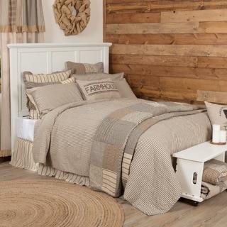 Farmhouse Bedding VHC Sawyer Mill Ticking Stripe Coverlet Cotton Striped