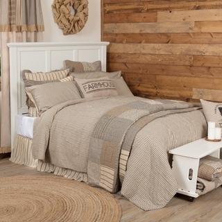 Sawyer Mill Ticking Stripe Quilt Coverlet