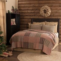 VHC Deep Red Rustic & Lodge Seasonal Bedding Clement Quilt