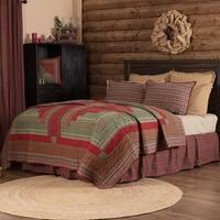 Red Rustic Bedding VHC Gatlinburg Quilt Cotton Patchwork
