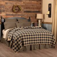 VHC Primitive Bedding Check Quilted Coverlet
