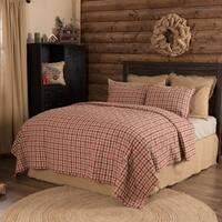 Tan Rustic Bedding VHC Jonathan Plaid Quilt Cotton Plaid Patchwork
