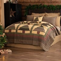 VHC Evergreen Green Rustic & Lodge Seasonal Bedding Sequoia Quilt