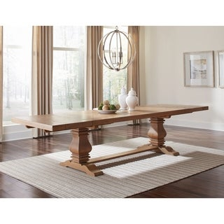Coaster Florence Rectangular Double Pedestal Dining Table - Brown