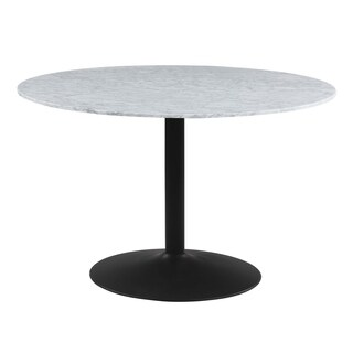 Coaster Modern White and Black Dining Table - Grey