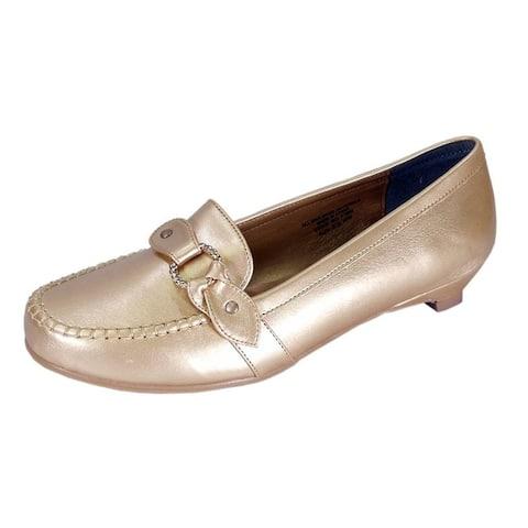 FLORAL Erica Women Extra Wide Width Elegant Kitten Heel Dress Loafers