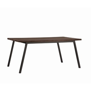 Jefferson Transitional Cappuccino Dining Table - Charcoal