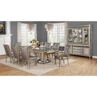 Danette Metallic Platinum Dining Table - Silver